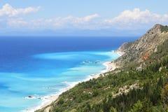 Beautiful turquoise sea and coastal hills Royalty Free Stock Image