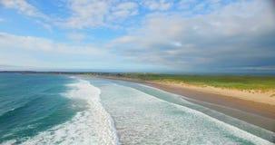 Beautiful turquoise sea and coastline 4k. Aerial of beautiful turquoise sea and coastline 4k stock footage