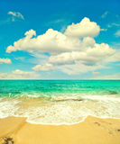 Beautiful turquoise sea and perfect blue sky Stock Image