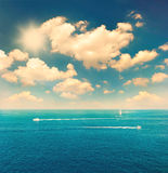 Beautiful turquoise sea water and perfect blue sky Royalty Free Stock Images