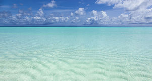 Beautiful turquoise sea Stock Photography