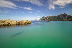 Beautiful turquoise water in Norway Stock Photo