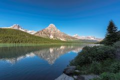 Bow Lake in Banff National Park, Canada Stock Images