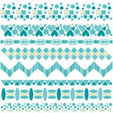 Beautiful turquoise and yellow trim collectio Royalty Free Stock Photo