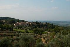 The beautiful Tuscan hills royalty free stock photos