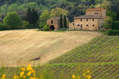 Beautiful Tuscan House Royalty Free Stock Photos