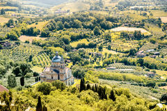 Beautiful tuscan landscape view Stock Images