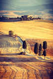 Countryside near Pienza, Tuscany  Stock Photos