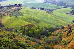 Beautiful summer landscape in Tuscany royalty free stock images