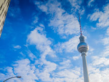 Beautiful TV Tower in Berlin. With copy space Stock Images