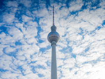 Beautiful TV Tower in Berlin Stock Photo