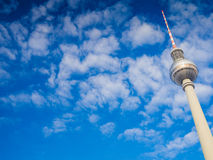 Beautiful TV Tower in Berlin Royalty Free Stock Images