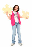 Beautiful Tween with Puzzle Pieces Stock Image