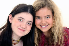 Beautiful Twelve Year Old Friends Royalty Free Stock Photos