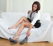 Beautiful twenties hispanic brunette woman Stock Photography