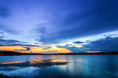 Beautiful twilight over the lagoon. Stock Photography