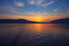 Majestic twilight over the sea royalty free stock image