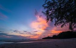 Beautiful twilight over the sea Stock Photo
