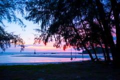 Beautiful twilight over the sea Stock Photos