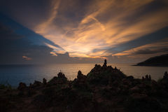 Beautiful twilight at Phromthep. Beautiful Twilight sky over the sea. landscape Phuket Thailand Royalty Free Stock Images