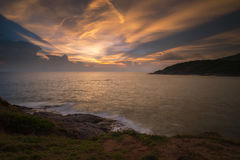 Beautiful twilight at Phromthep. Beautiful Twilight sky over the sea. landscape Phuket Thailand Stock Images