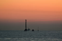 Beautiful twilight at sea Stock Photography