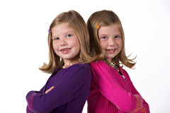 Beautiful twin girls Royalty Free Stock Image