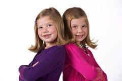 Beautiful twin girls Royalty Free Stock Image