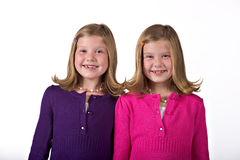 Beautiful twin girls Stock Photo