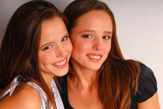 Beautiful twin-girls portrait Royalty Free Stock Photos