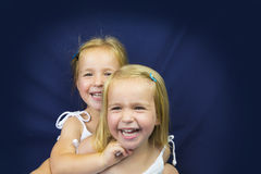 Beautiful twin little girls smiling Stock Photography