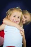 Beautiful twin little girls Stock Photos