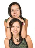 Beautiful twin sisters Royalty Free Stock Photo