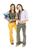 Beautiful twin students Royalty Free Stock Photography