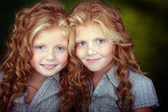 Beautiful twins Stock Images
