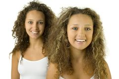 Beautiful twins Stock Photos