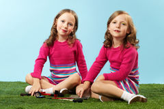 Beautiful twins Stock Photo