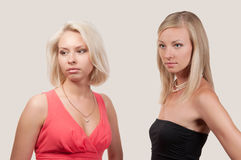 Beautiful two woman Royalty Free Stock Photos