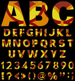 Beautiful type letters from A to Z with numbers and punctuation marks Stock Photos