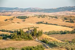 Beautiful typical countryside summer landscape in Tuscany Italy. Beautiful typical countryside summer landscape in Tuscany, Italy Stock Image
