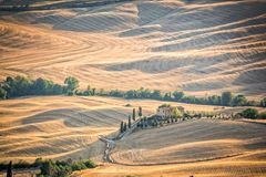 Beautiful typical countryside summer landscape in Tuscany Italy Royalty Free Stock Images