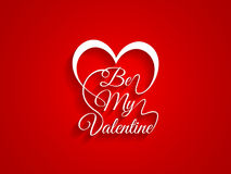Beautiful typography of text Be My Valentine on re vector illustration