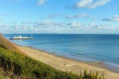 Beautiful uk south coast beach Bournemouth Dorset England UK Stock Image