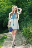 Beautiful ukrainian woman walking Stock Photo