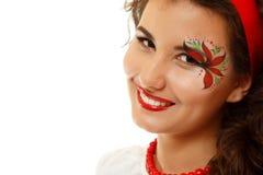 Beautiful ukrainian young womanwith artistic makeup Royalty Free Stock Image