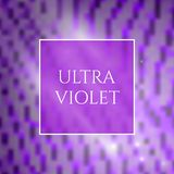 Ultra Violet Background. Beautiful Ultra Violet Glowing Square Background. Trendy 2018 Ultraviolet Color Creative Texture with Space for Text vector illustration