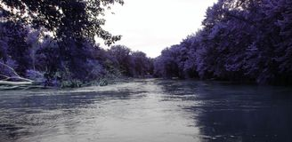 Beautiful Ultra Violet River Watefront Royalty Free Stock Image
