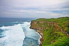 Beautiful Uluwatu cliff at Bali stock photo