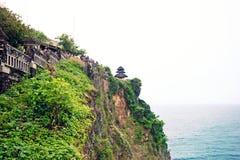 Beautiful Uluwatu temple at hill top, Bali stock photography