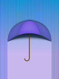 Beautiful Umbrella Protection Rain Blue Stock Images
